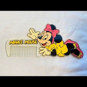 Minnie Mouse hair comb VTG
